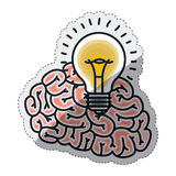 Isolated big idea draw design Royalty Free Stock Images