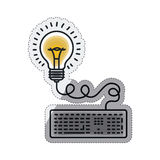 Isolated big idea draw design Royalty Free Stock Photography