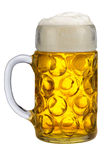Isolated big mug of Bavarian lager beer Royalty Free Stock Photo