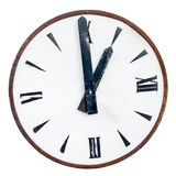 Isolated Big Old clock Royalty Free Stock Images