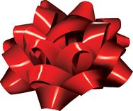 Isolated Big Red Bow (vector). This is an illustrated isolated big red bow for a gift.  It comes in both jpg and vector (eps) format Royalty Free Stock Images