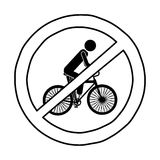 Isolated biker road sign design Stock Photos