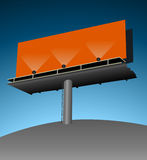 Isolated Billboard with Lights Stock Photo