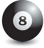 Isolated billiard ball. Isolated picture of the eight billiard ball Stock Image