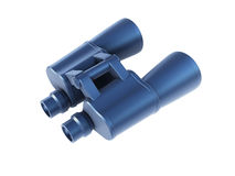Isolated binoculars 3d render Royalty Free Stock Photography