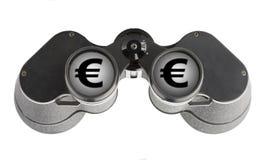 Isolated binoculars with money Stock Photo