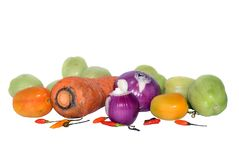 Isolated biological raw vegetables Stock Photos