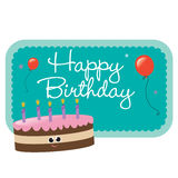 Isolated birthday cake and sign Stock Photo