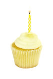 Isolated Birthday Cupcake Royalty Free Stock Photography