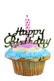 Isolated Birthday cupcake Royalty Free Stock Photos