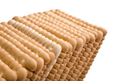 Isolated biscuits Stock Photo