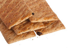 Isolated biscuits. With crumbs on white background Stock Image