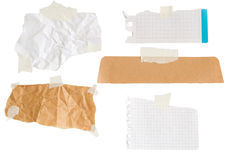 Isolated bits of paper Royalty Free Stock Photography