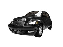 Isolated black american car Royalty Free Stock Image