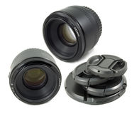 Isolated Black Camera DSLR lens Royalty Free Stock Image
