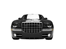 Isolated black car front view3 Stock Photography