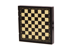 Isolated black chessboard box Stock Image