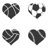 Heart ball icon Royalty Free Stock Photo