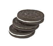 Isolated Black Cookies Stock Photo