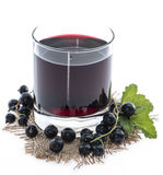 Isolated Black Currant juice Royalty Free Stock Photos