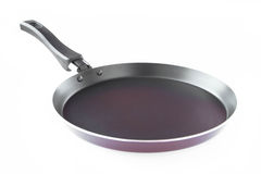Isolated black frying pan Stock Images