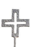 Isolated Black german war cross. Close view of an isolated german black cross over a white background royalty free stock photography