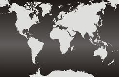 World maps with a black gradient background royalty free stock photos
