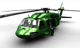 Isolated black hawk helicopter Stock Photos
