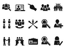 Black Job Icons set Royalty Free Stock Image