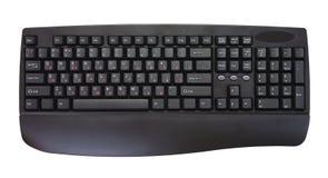Isolated black keyboard. On a white background Royalty Free Stock Image