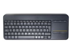 Isolated black keyboard. Close up view of a isolated black keyboard for pc or tv Stock Photography