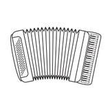 Isolated black outline accordion stock illustration