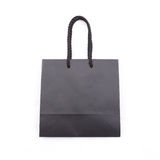 Isolated of the black paper bag for shopping Stock Photography