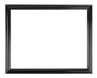 Isolated black picture frame. A black picture frame isolated on white Stock Photography