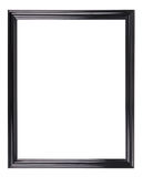 Isolated black picture frame Royalty Free Stock Photography