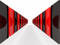 An isolated black and red domino blocks Royalty Free Stock Photography