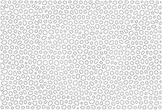 Isolated black rings. Irregular shape black rings isolated over white Royalty Free Stock Images