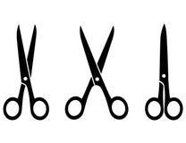 Isolated black scissors Stock Photography
