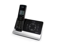 Isolated Black and Silver Cordless Phone Royalty Free Stock Image