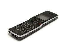 Isolated Black and SilverCordless  Phone Stock Photography