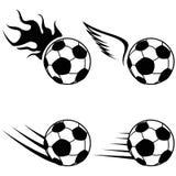 Black soccer logo icons set Royalty Free Stock Photos