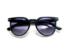 Isolated black sunglasses with purple lens Royalty Free Stock Photos