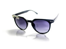 Isolated black sunglasses with purple lens Stock Image