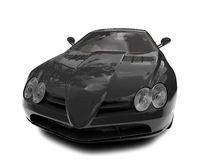 Isolated black super car front Royalty Free Stock Photography