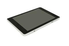 Isolated black tablet Royalty Free Stock Photo