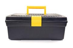 isolated black toolbox Royalty Free Stock Photography