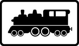 Isolated black train Royalty Free Stock Photography