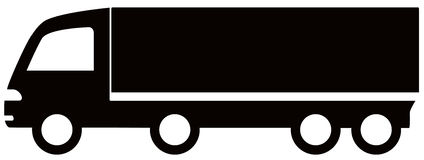 Isolated black truck Royalty Free Stock Images