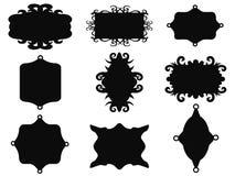 Black vintage frame set. Isolated black vintage frame set from white background Royalty Free Stock Images