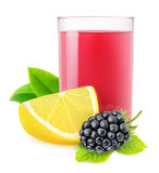 Isolated blackberry lemonade royalty free stock photos